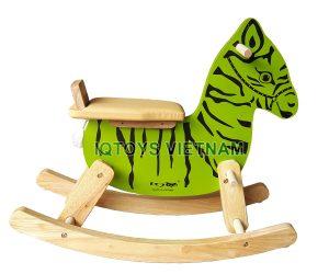 Bập bênh Ngựa gỗ IQ Việt Nam (màu xanh)