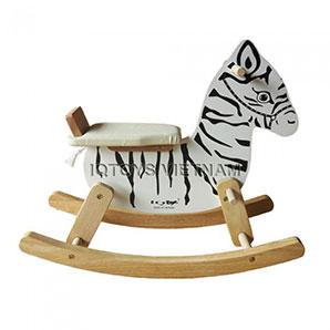 Bập bênh Ngựa gỗ IQTOYS (màu trắng)